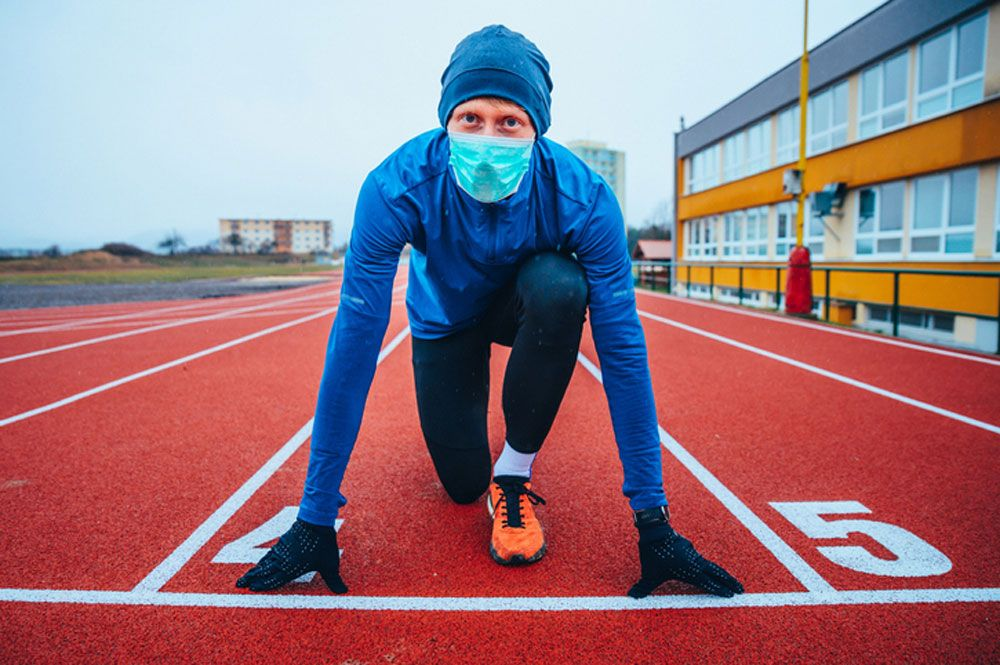 No se produce hipoxia al correr con mascarilla