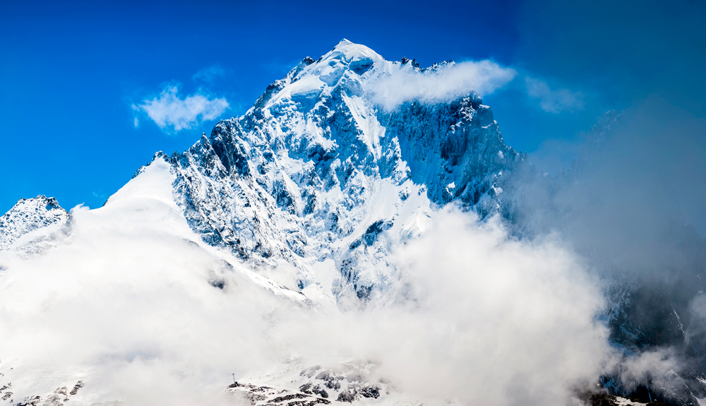Esquí extremo en la Aiguille Verte