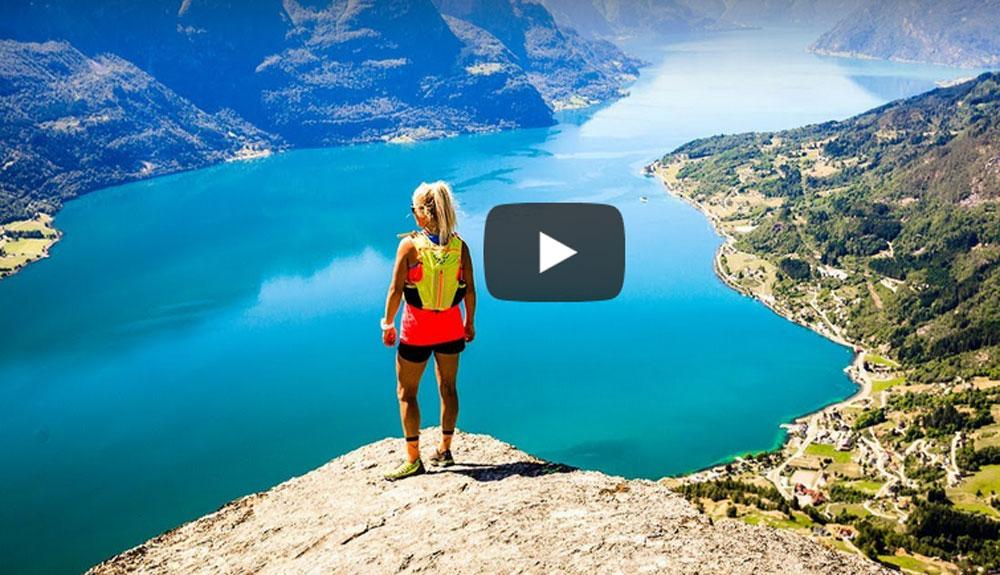 Malene Blikken recorre el fiordo Sogenfjord de punta a punta