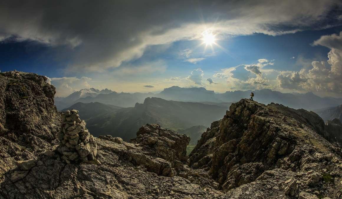 El día y la noche en los Dolomitas