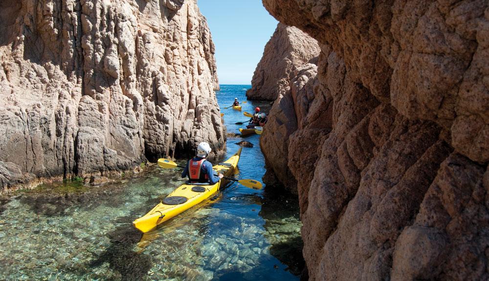 6 rutas en kayak de mar