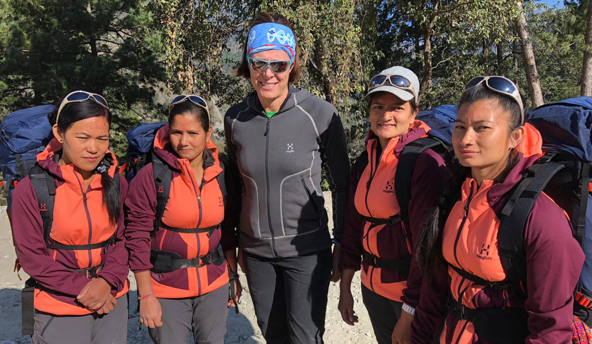 Apúntate a un trekking con Edurne Pasabán