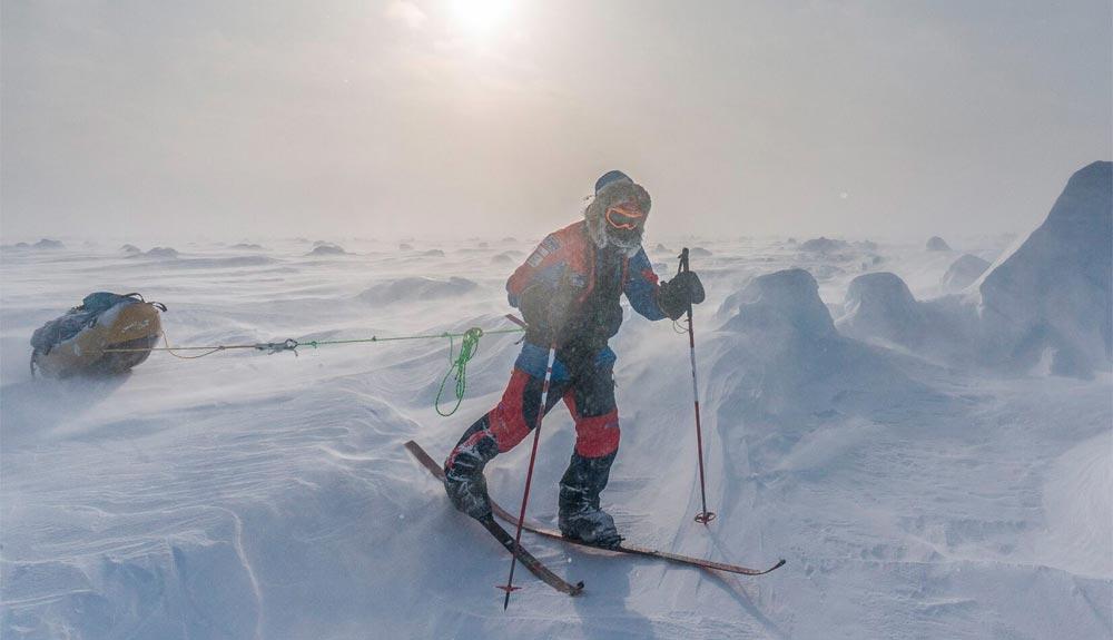 A por el récord del Polo Sur en solitario y sin asistencia