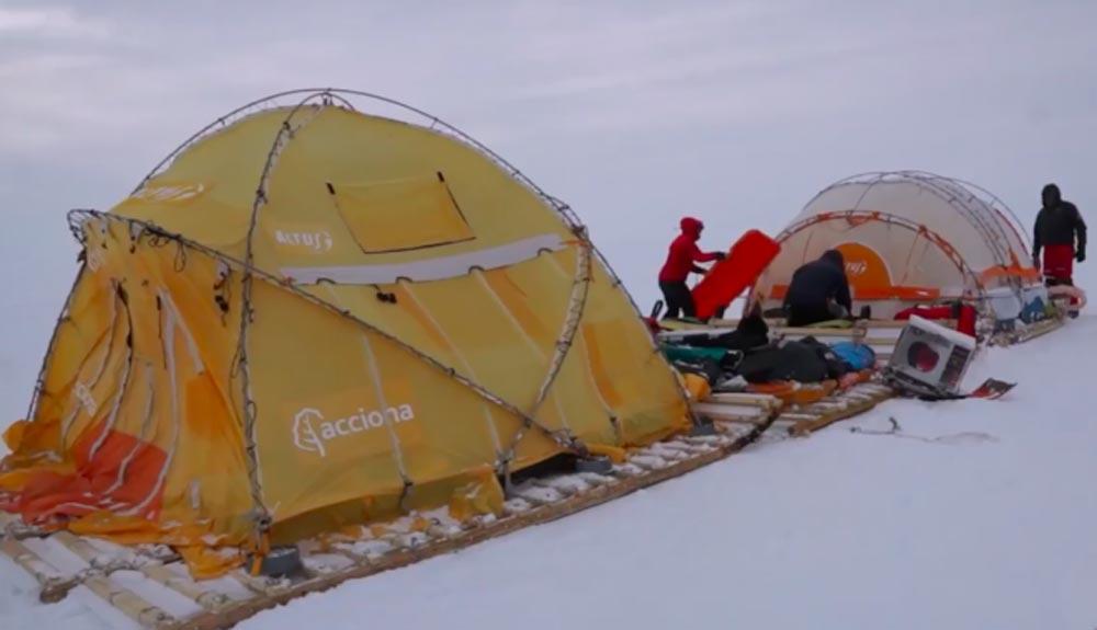 El Trineo de Viento rumbo a una Antártida desconocida