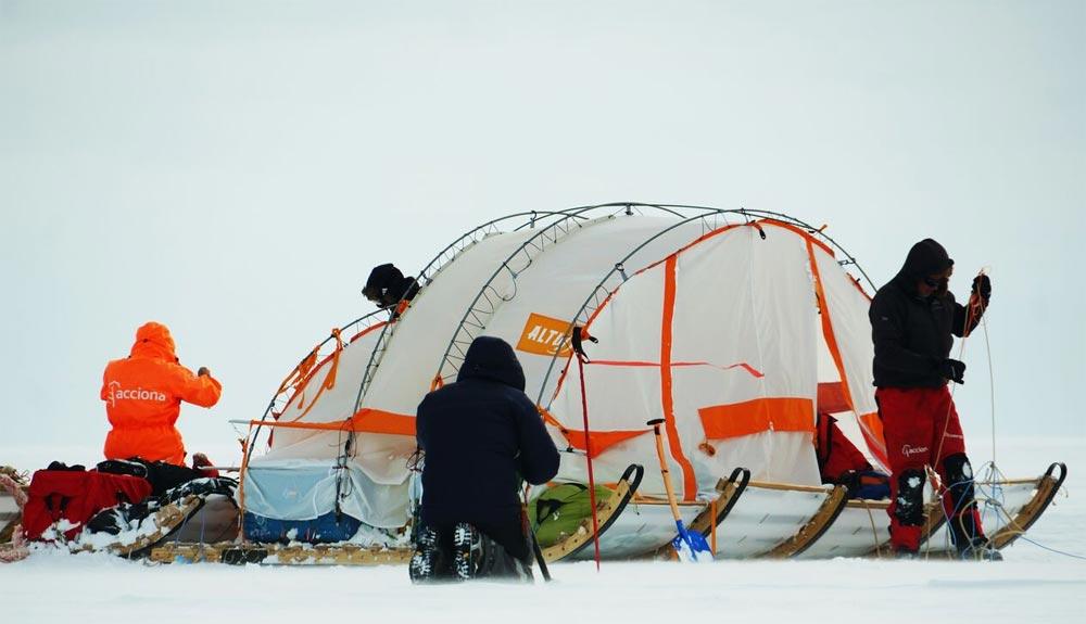 El Trineo de Viento llega al hielo de la Antártida