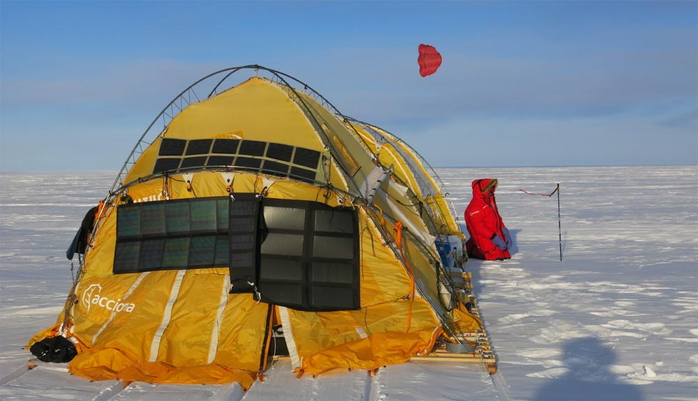 Trineo de Viento alcanza una base antártica abandonada desde hace 50 años