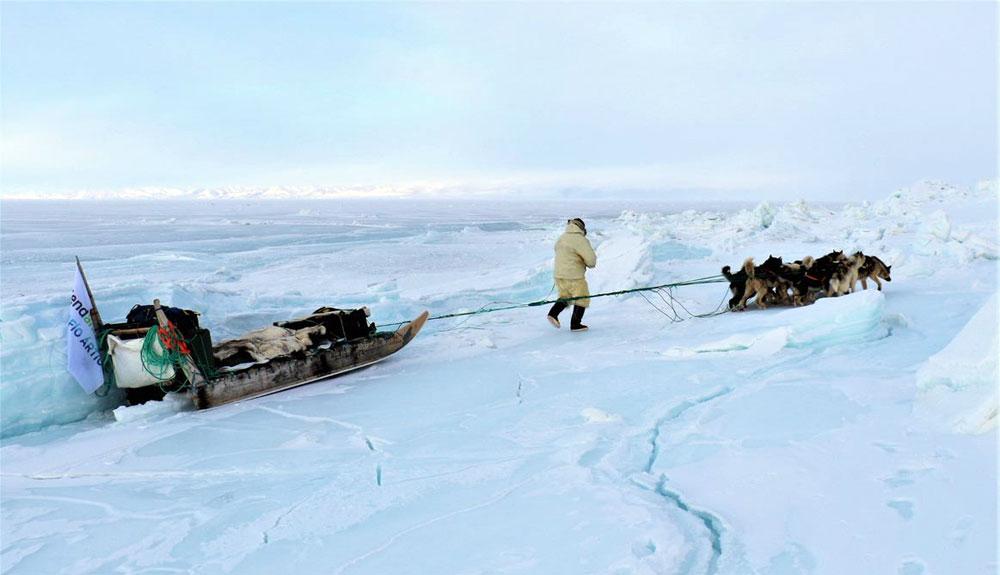 450 kilómetros por Groenlandia... y una advertencia
