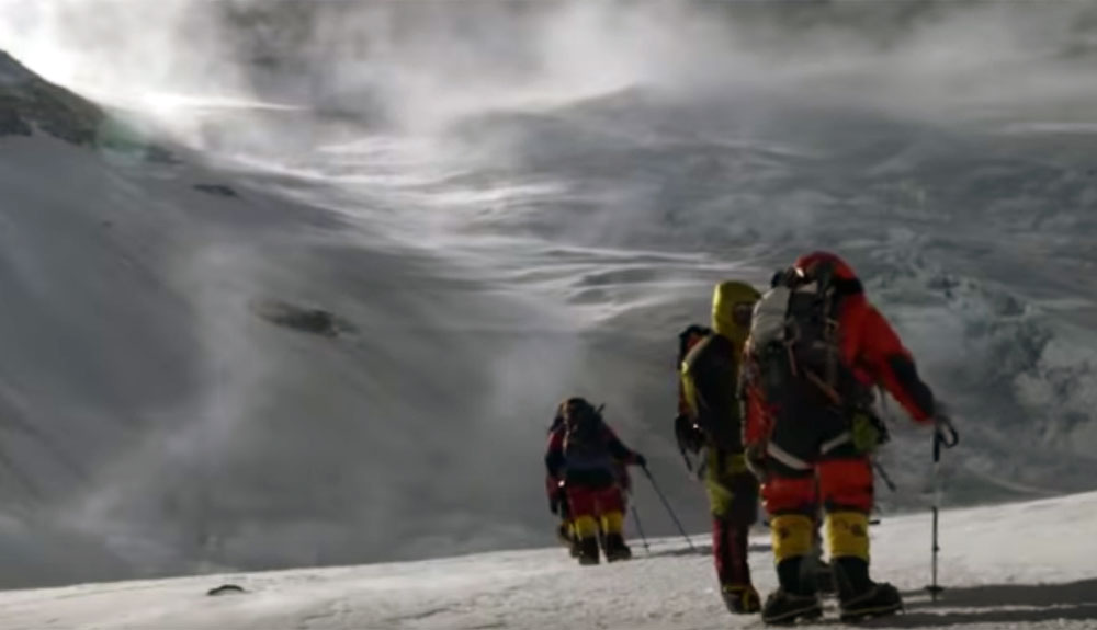 Así es ascender por la pared del Lhotse