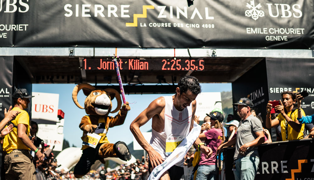 Kilian Jornet destroza el récord de la Sierre-Zinal