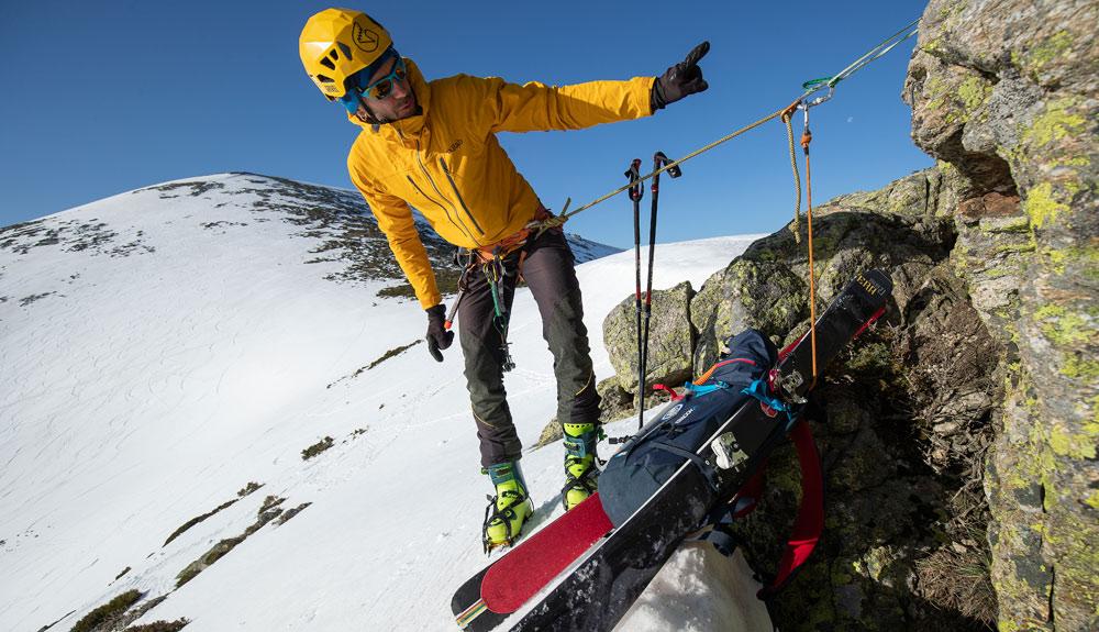 Transición esquís-crampones