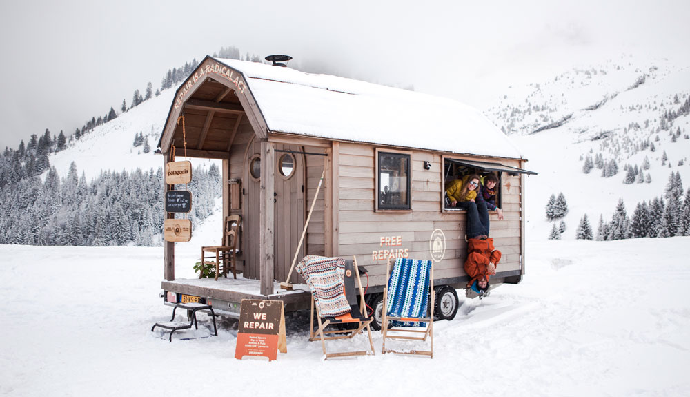 Repara gratis tus prendas de nieve con Patagonia