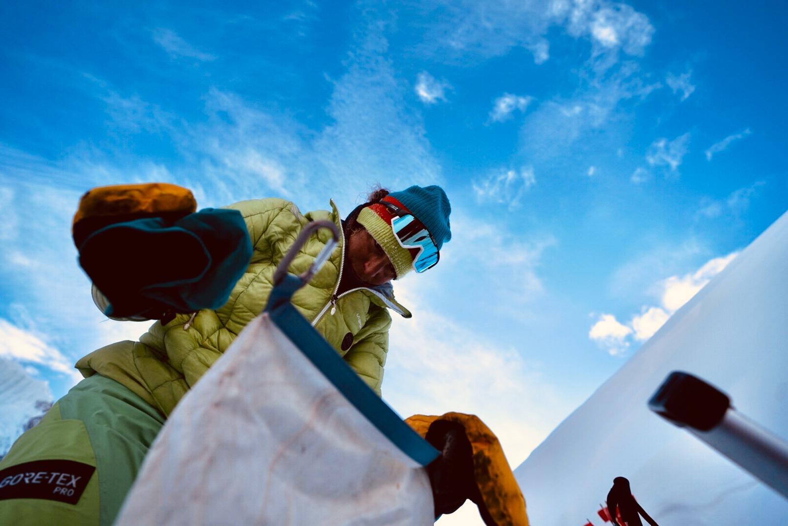 Tamara Lunger y Simone Moro en el invierno de los Gasherbrums