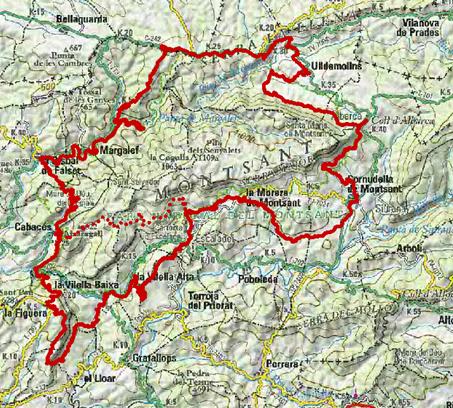 BTT Montsant mapa