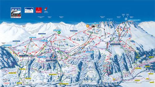 Aletsch Arena mapa