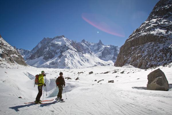 Mer de Glace ski snowboard