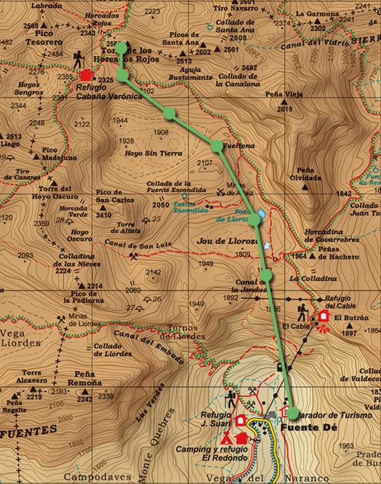 Mapa Horcados Rojos skimo