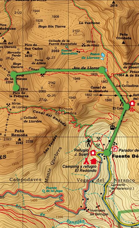 Mapa skimo La Padiorna