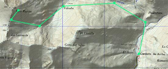 Mapa Pico Murcia skimo
