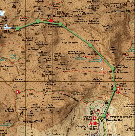 Mapa Torre Blanca Skimo