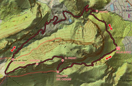 Mapa Ponoig