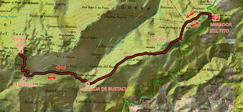 mapa Sueve